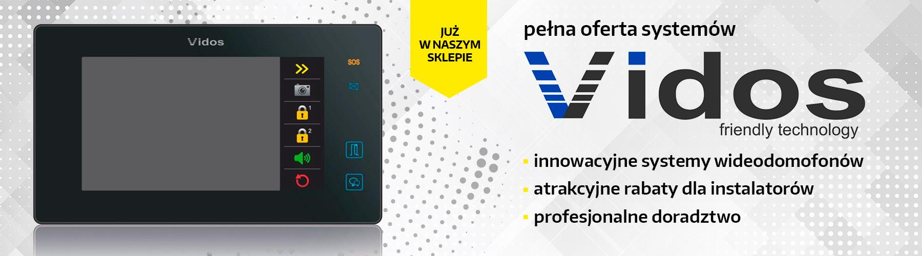Pełna oferta wideodomofonów VIDOS
