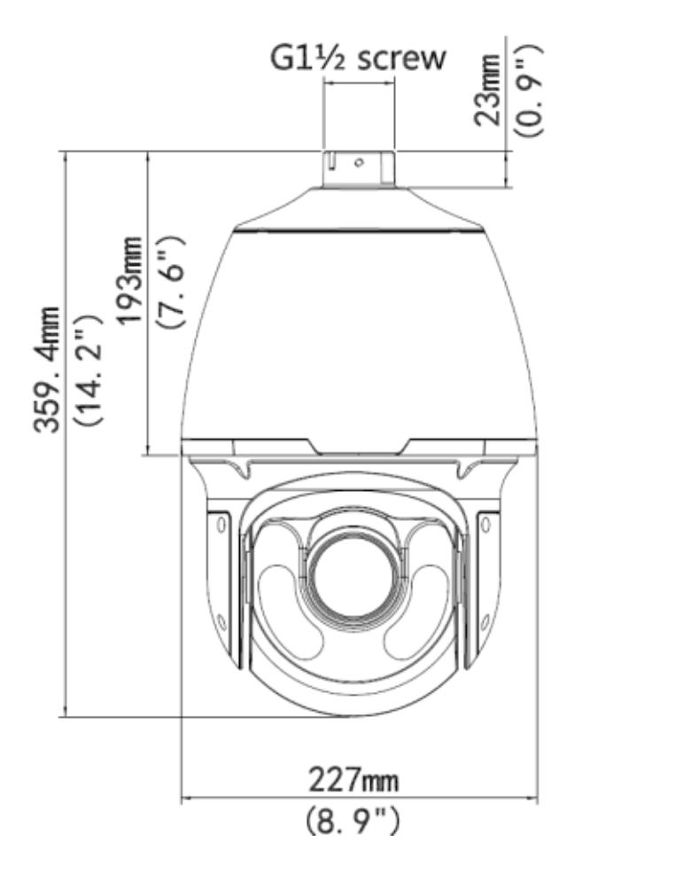 Wymiary kamery szybkoobrotowej BCS Point BCS-P-5624RWLSA
