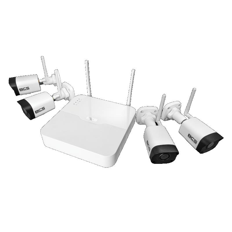 Zestaw WiFi 4 kamery 4Mpix BCS Point BCS-P-WIFI4x2M-KIT